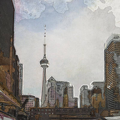 Digital Art - Downtown Toronto In Color by Eduardo Tavares