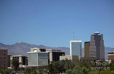 Photograph - Downtown Tucson And Mount Lemmon by Anne Rodkin