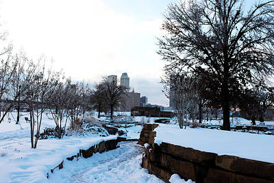 Photograph - Downtown Tulsa From Centennial Park by Susan Vineyard