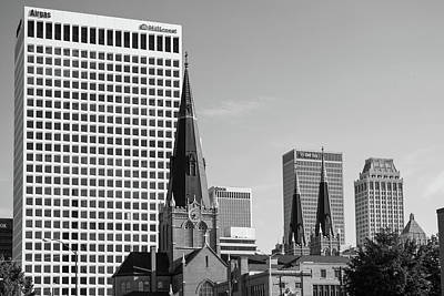 Photograph - Downtown Tulsa Oklahoma Architecture Black And White by Gregory Ballos