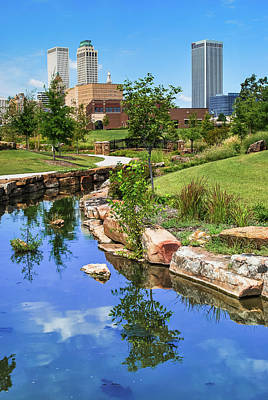 Photograph - Downtown Tulsa Oklahoma Skyline. Ca. 2008 by Gregory Ballos
