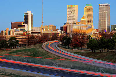 Photograph - Downtown Tulsa Skyline From South Peoria by Gregory Ballos