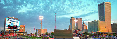 Photograph - Downtown Tulsa Skyline Panoramic From Oneok Stadium by Gregory Ballos