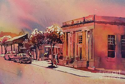 Fine Art Batik Painting - Downtown Usa by Ryan Fox