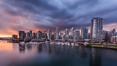 Downtown Vancouver Sunset Art Print