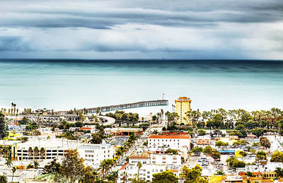Photograph - Downtown Ventura And Pier by Joe  Palermo