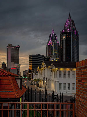 Photograph - Downtown View From Fort Conde by Brad Boland