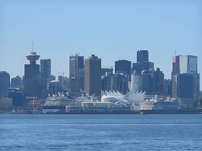 Downtown View From North Vancouver Art Print