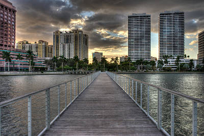 Photograph - Downtown West Palm Beach by Mike Sperduto