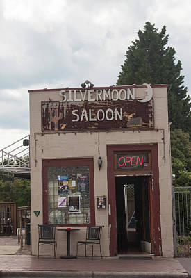 Photograph - Downtown Winston Salem Series Vi - Silvermoon Saloon by Suzanne Gaff