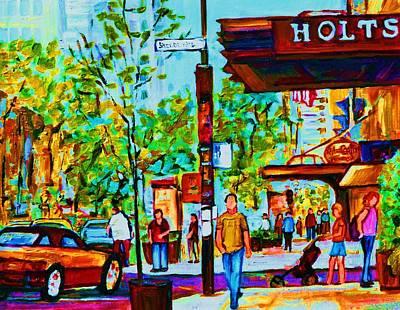 Downtowns Popping Art Print by Carole Spandau