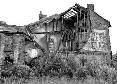 Brick Duplex Photograph - Downtrodden Duplex by Emil Davidzuk
