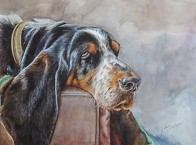 Wall Art - Painting - Downward Dog by Nancy Delgado