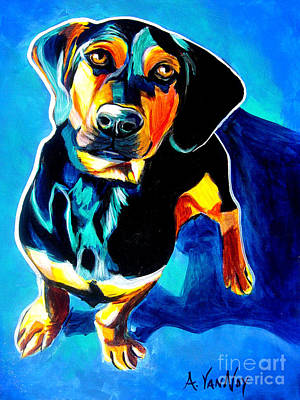 Dachshund Painting - Doxle - Tyson by Alicia VanNoy Call