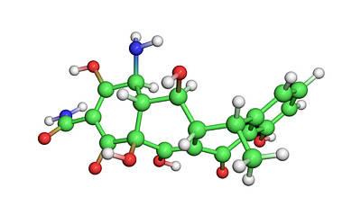 Doxycycline Antibiotic Molecule Art Print by Dr Tim Evans