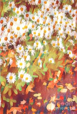 Photograph - Dozens Of Daisies - Happy Gardens Of Spring by Miriam Danar