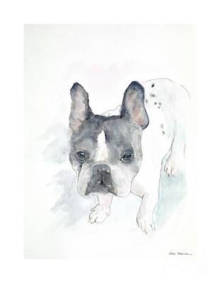 French Bull Dog Painting - Dozer by Joan Sharron