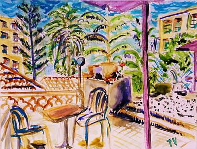 Dozy Afternoon In Garden, French Riviera Art Print by Tamara Vitsenkova