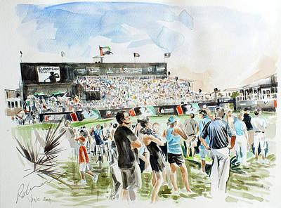 Painting - Dp World Tour Championship 2011 by Mark Robinson