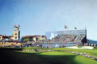 Painting - Dp World Tour Championship 2015 - Open Edition by Mark Robinson