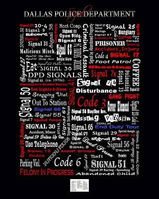 D P D  Signals Poster Art Print by Robert J Sadler
