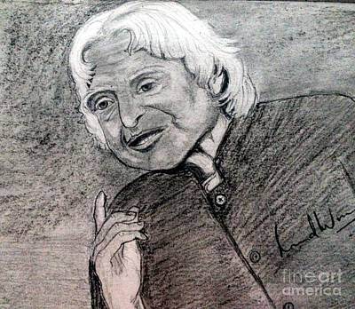Painting - Dr. Abdul Khalam by Brindha Naveen