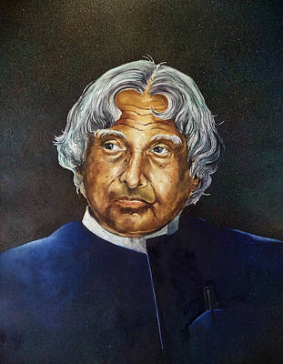 Dr J Painting - Dr. A. P. J Abdul Kalam by Sumit  Datta