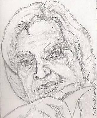 Kalam Painting - Dr. Apj Abdul Kalam by SP Singh