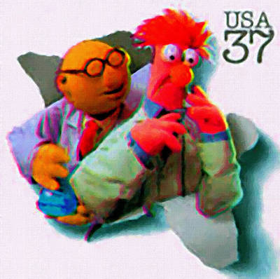 Premieres Painting - Dr Bunsen Honeydew And Beaker by Lanjee Chee