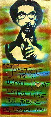 Liberal Painting - Dr. Cornel West Justice by Tony B Conscious
