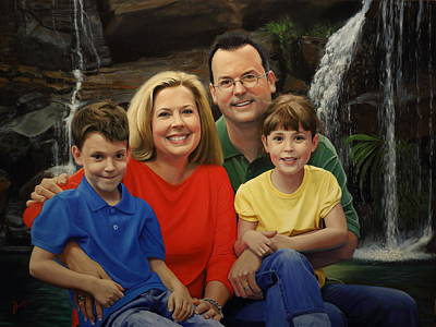 Painting - Dr. Devon Ballard And Family by Glenn Beasley