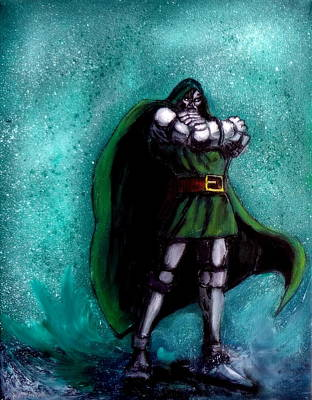 Painting - Dr. Doom by Katy Hawk