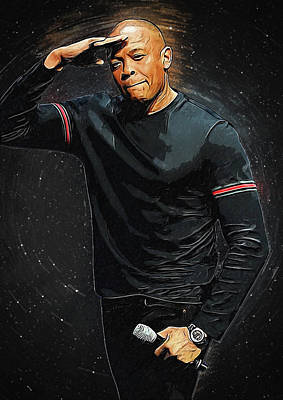 Ice-t Digital Art - Dr. Dre by Semih Yurdabak