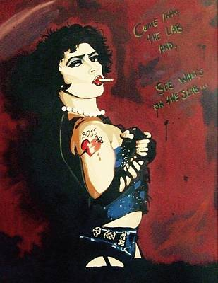 Drag Queen Mixed Media - Dr. Frank-n-furter by Janey Douglas
