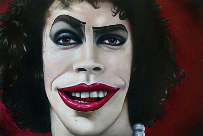 Dr. Frank-n-furter Art Print by Kalie Hoodhood