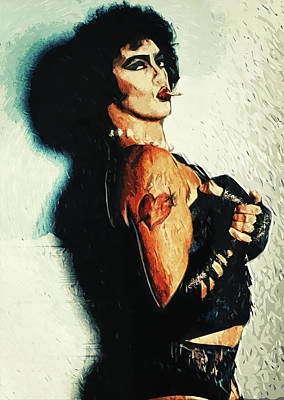 Digital Art - Dr Frank N Furter by Taylan Apukovska