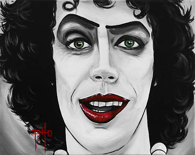 Tim Curry Painting - Dr. Frankenfurter by Erik Pinto