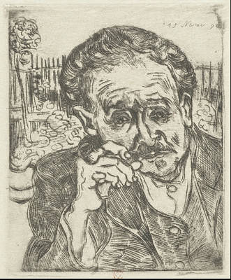 Dr. Gachet Man With A Pipe 1890 Art Print by Vincent Van Gogh