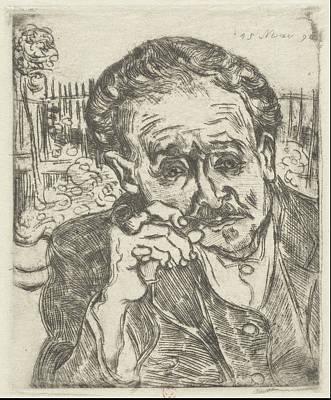 Dr. Gachet Man With A Pipe 1890 Art Print