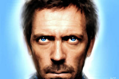 Famous Actors Painting - Dr Gregory House  by Enki Art