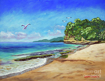 Painting - Dr. Grooms Beach, Grenada by Laura Forde