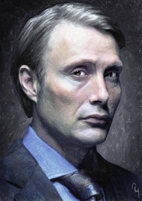 Creepy Painting - Dr. Hannibal Lecter by Taylan Apukovska