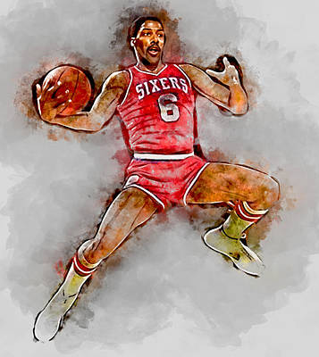 Dr. J Julius Erving Art Print