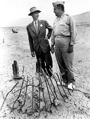 Dr. J. Robert Oppenheimer, With Maj Art Print by Everett