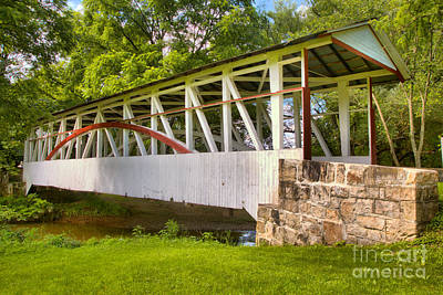 Photograph - Dr. Kinsley Covered Bridge Over Dunning Creek by Adam Jewell