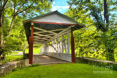 Photograph - Dr. Knisely Overed Bridge by Adam Jewell