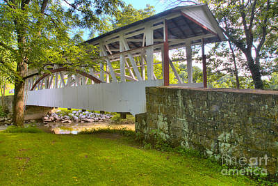 Photograph - Dr. Knisley Covered Bridge Landscape by Adam Jewell