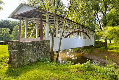 Photograph - Dr. Knisley Covered Bridge Of Bedford Pa by Adam Jewell