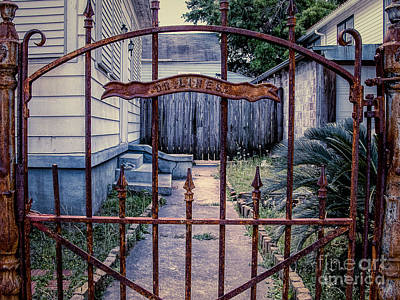 Photograph - Dr. Lines Gate - Nola by Kathleen K Parker