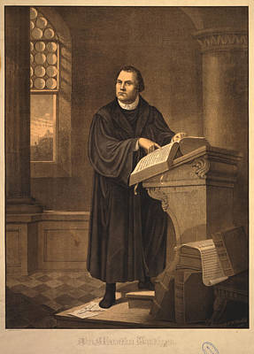 Painting - Dr. Martin Luther by Celestial Images